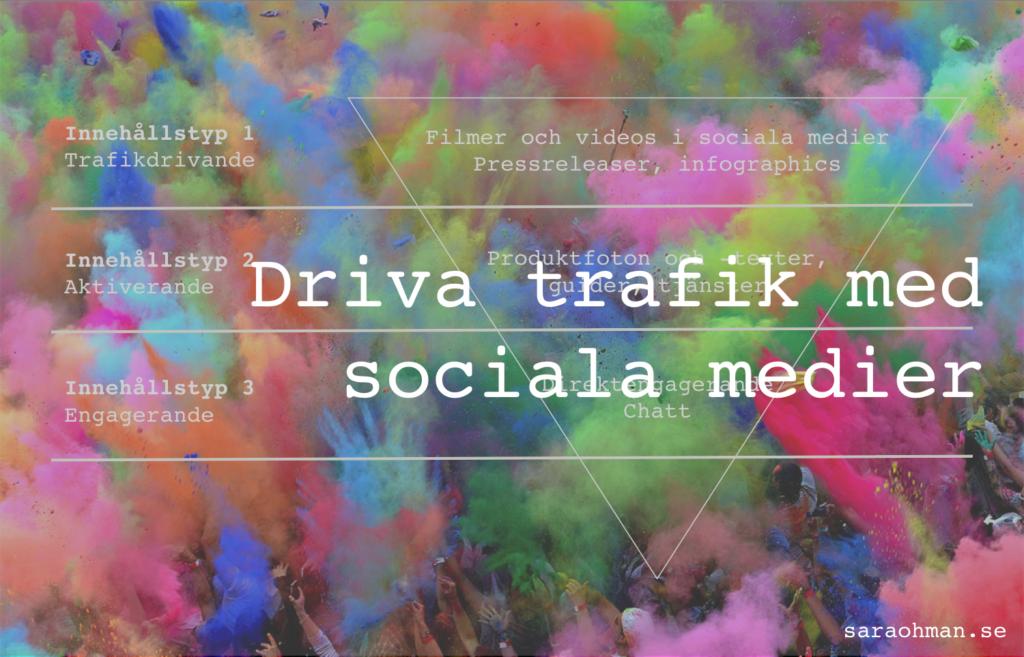 driva trafik med sociala medier